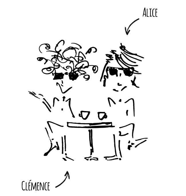 Clémence Martens et Alice Pourcher histoire de